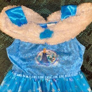 DISNEY Frozen ELSA Dress Up Long Nightgown Size 8